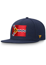 St Louis Blues Hometown Fitted Hat - Navy Blue