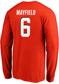 Baker Mayfield Cleveland Browns Authentic Stack Long Sleeve T-Shirt - Orange