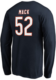 Khalil Mack Chicago Bears Authentic Stack Long Sleeve T-Shirt - Navy Blue