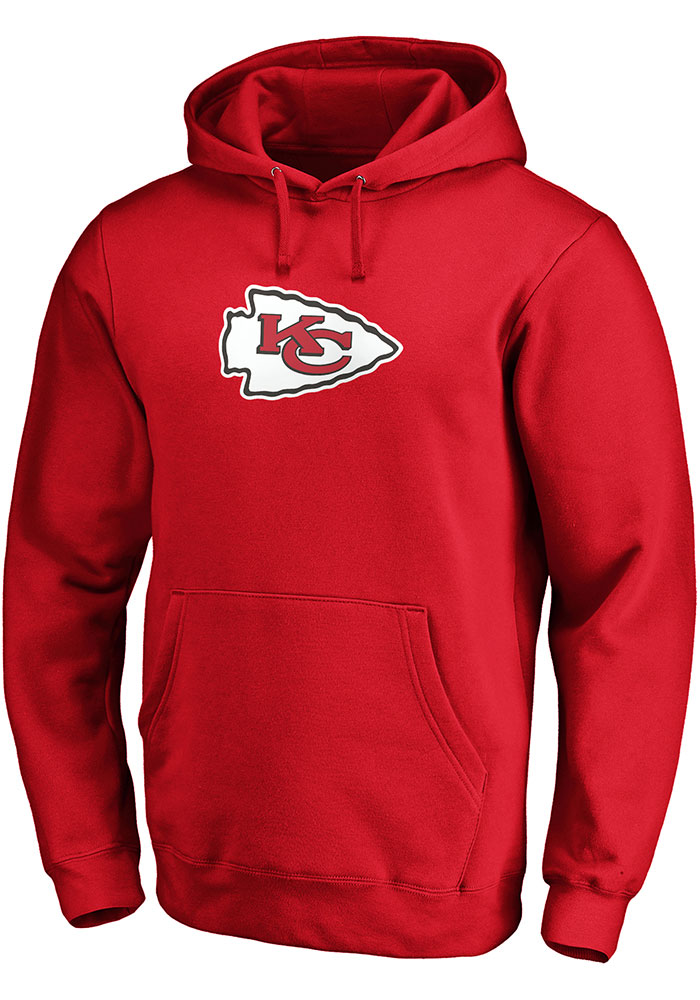 Kansas City Chiefs Mens Red Tek Patch Long Sleeve Hoodie - Image 1