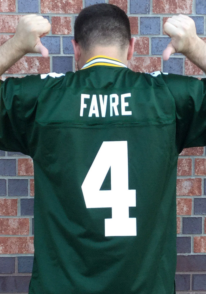 newest collection cca53 13f1d Brett Favre Green Bay Packers Mens Green Eligible Receiver Football Jersey