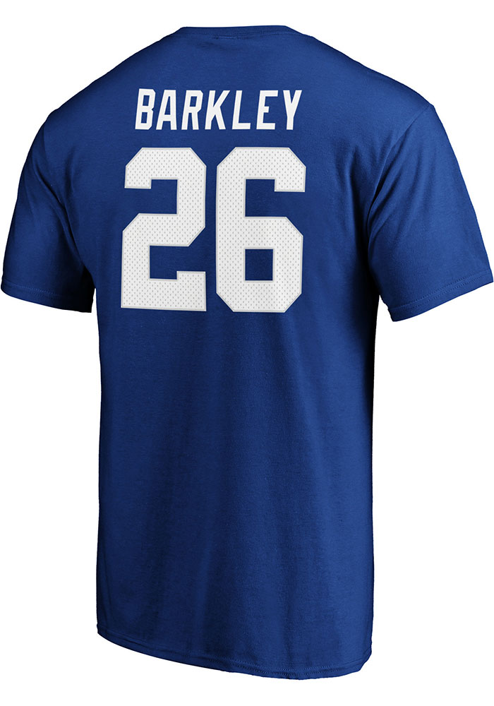 Saquon Barkley New York Giants Authentic Stack T-Shirt - Blue