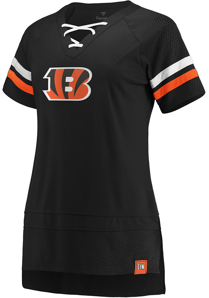 Cincinnati Bengals Womens Black Athena Icon Short Sleeve T-Shirt - Image 1