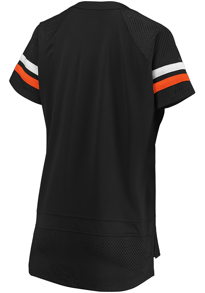 Cincinnati Bengals Womens Black Athena Icon Short Sleeve T-Shirt - Image 2