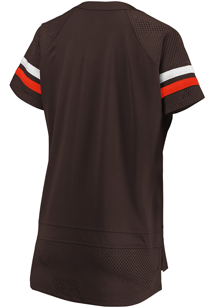 Cleveland Browns Womens Athena Icon Fashion Football Jersey - Brown - Image 2