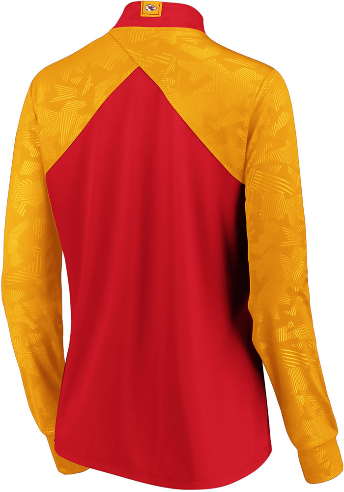 KC Chiefs Womens Red Defender Blocked 1/4 Zip Pullover - Image 2
