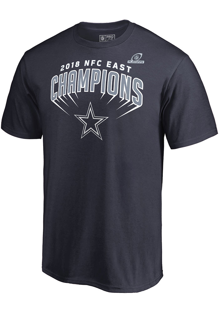 Dallas Cowboys Navy Blue 2018 Division Champs Swim Move Short Sleeve T Shirt - Image 2
