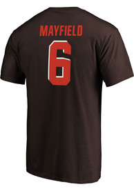 Baker Mayfield Cleveland Browns Authentic Stack T-Shirt - Brown