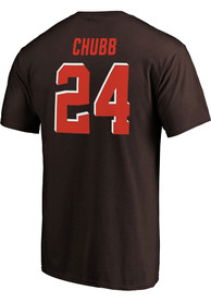 Nick Chubb Cleveland Browns Authentic Stack T-Shirt - Brown