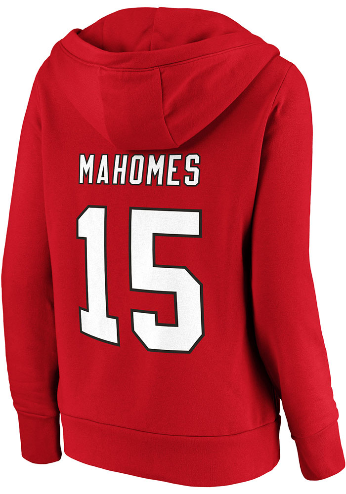 Patrick Mahomes Kansas City Chiefs Womens Red Dual Blend Player Hood - Image 1
