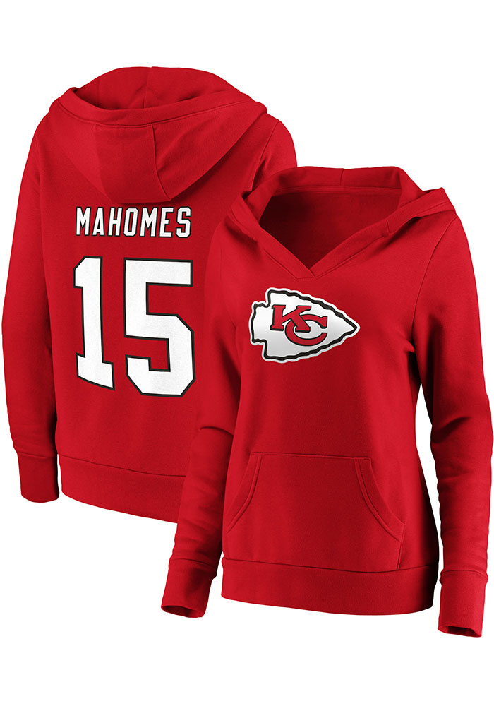 Patrick Mahomes Kansas City Chiefs Womens Red Dual Blend Player Hood - Image 3
