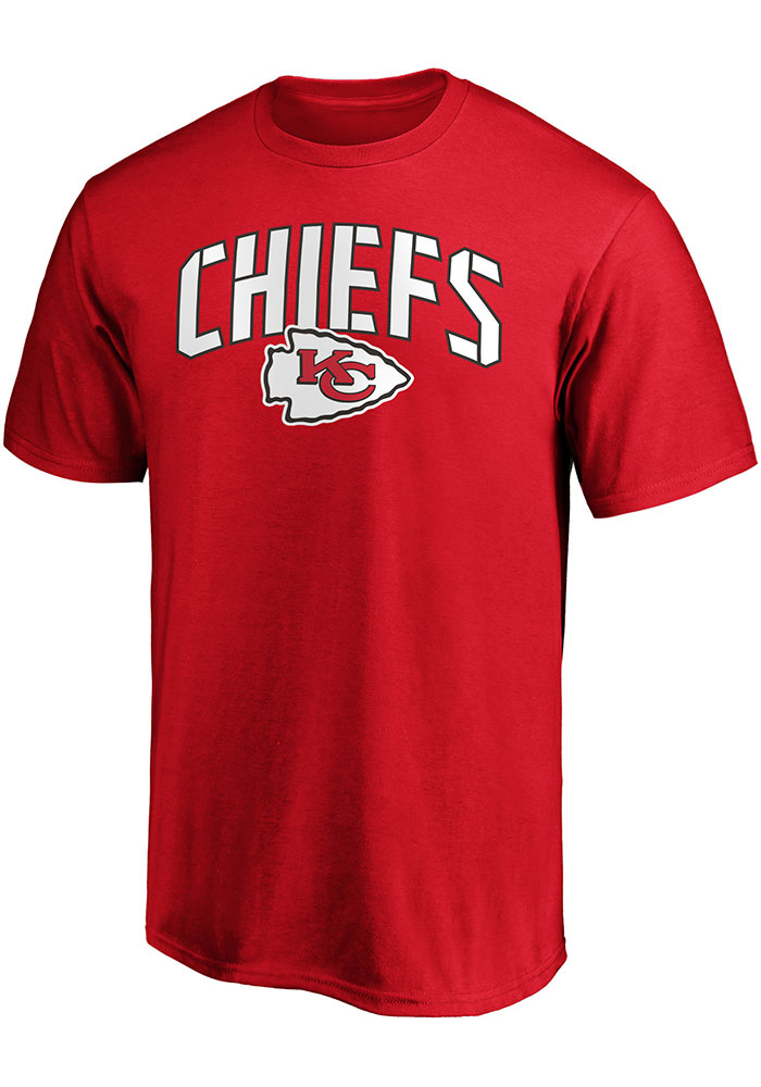 Kansas City Chiefs Red Primary Logo Cotton Short Sleeve T Shirt - Image 1