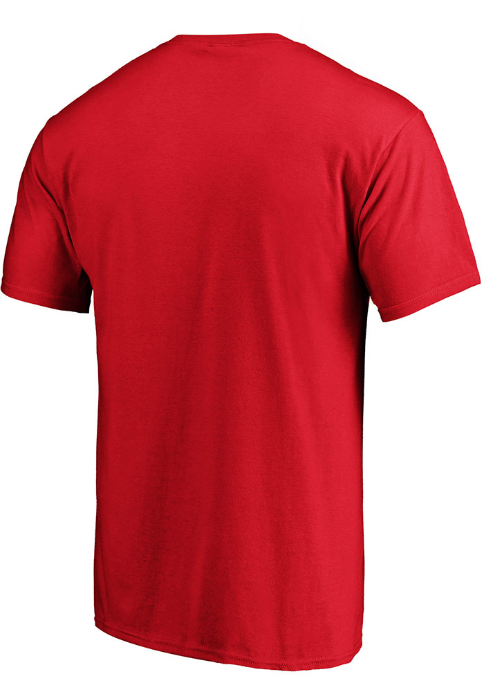 Kansas City Chiefs Red Primary Logo Cotton Short Sleeve T Shirt - Image 2