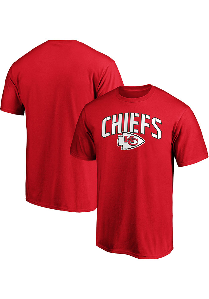 Kansas City Chiefs Red Primary Logo Cotton Short Sleeve T Shirt - Image 3