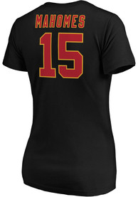 Patrick Mahomes Kansas City Chiefs Womens Authentic Stack T-Shirt - Black