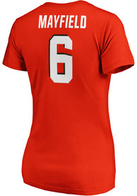 size 40 40f0f 2bd39 Baker Mayfield Cleveland Browns Womens Authentic Stack Player Tee