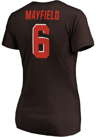 Baker Mayfield Cleveland Browns Womens Authentic Stack T-Shirt -