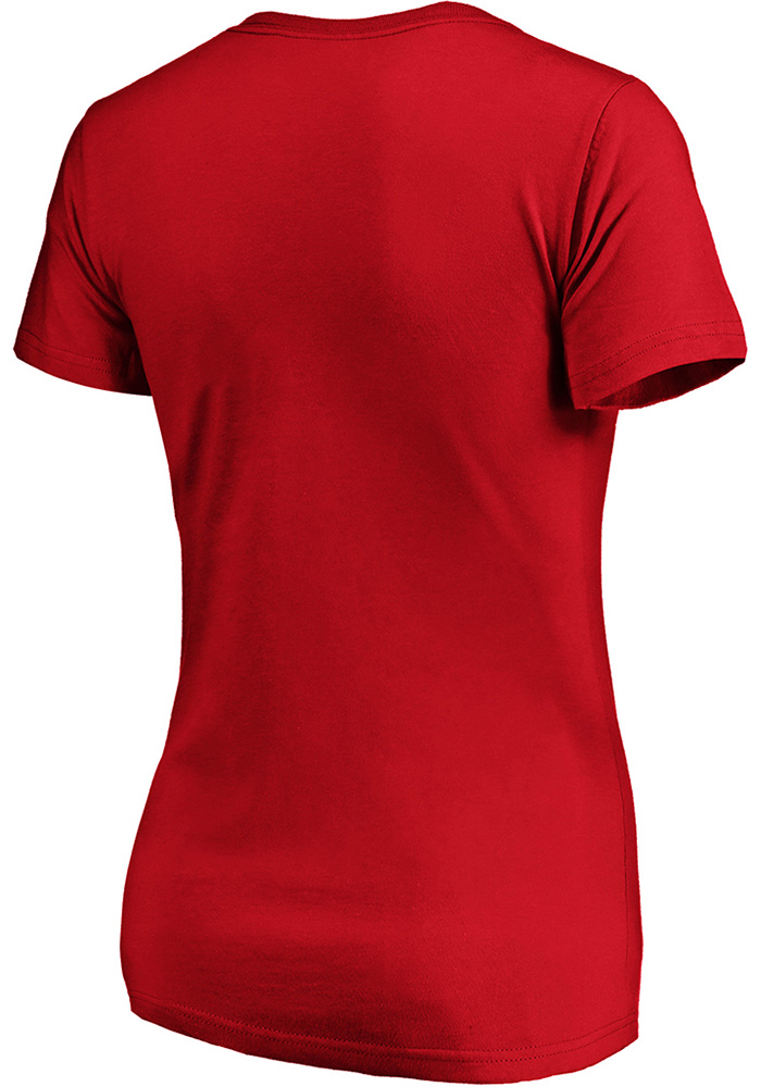 Kansas City Chiefs Womens Red Reign Short Sleeve T-Shirt - Image 2