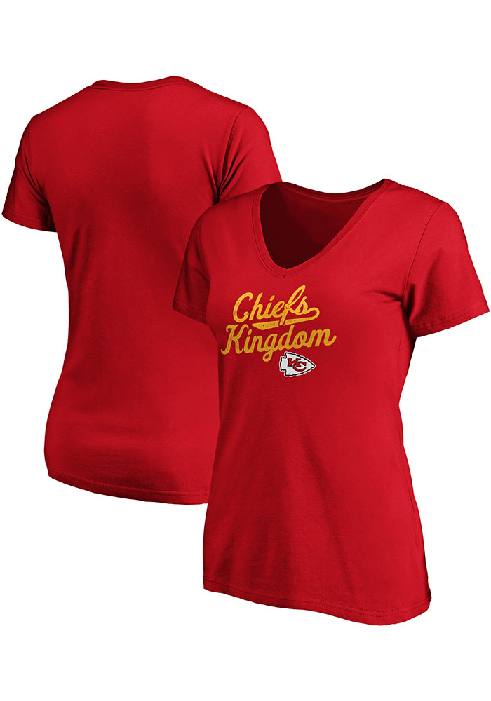 Kansas City Chiefs Womens Red Reign Short Sleeve T-Shirt - Image 3
