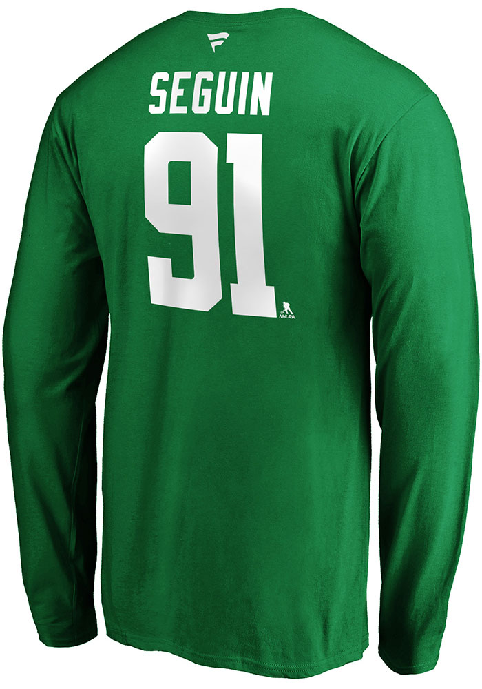 Dallas Stars Green Authentic Stack Long Sleeve Player T Shirt - Image 1