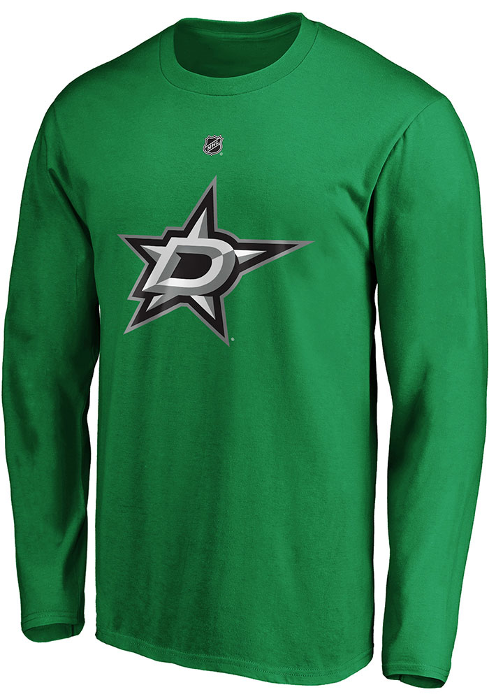 Dallas Stars Green Authentic Stack Long Sleeve Player T Shirt - Image 2