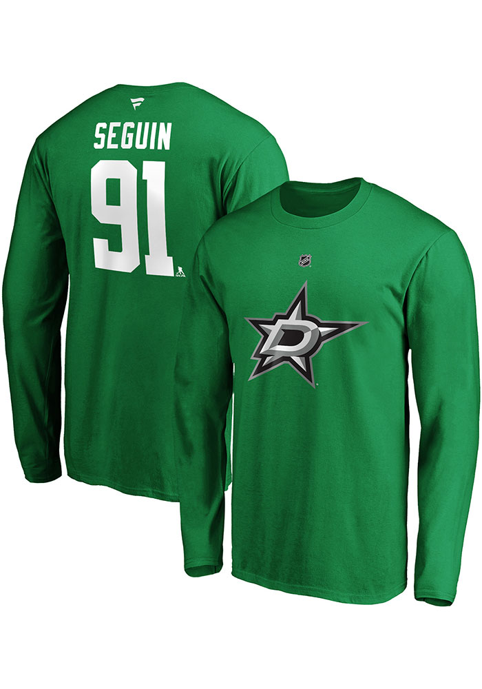 Dallas Stars Green Authentic Stack Long Sleeve Player T Shirt - Image 3