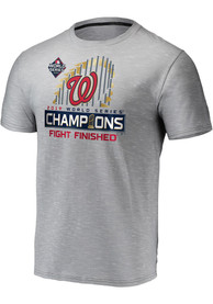 Washington Nationals Locker Room T Shirt - Grey