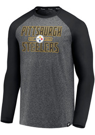 Pittsburgh Steelers Iconic Marble Clutch T-Shirt - Grey