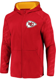 Kansas City Chiefs Iconic Poly Embossed Defender Zip - Red