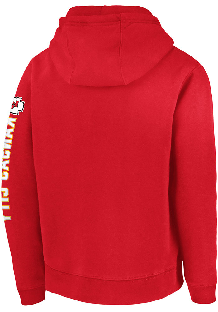 Kansas City Chiefs Youth Red Super Bowl LIV Champions Long Sleeve Hoodie - Image 2