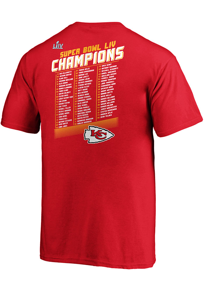Kansas City Chiefs Youth Red Super Bowl LIV Champions Short Sleeve T-Shirt - Image 2