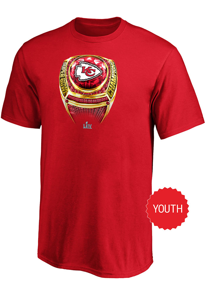 Kansas City Chiefs Youth Red Super Bowl LIV Champions Short Sleeve T-Shirt - Image 1
