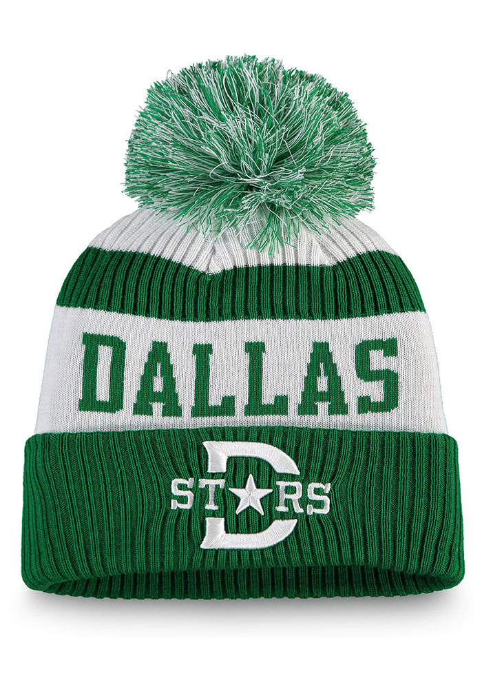 Dallas Stars Green 2020 Winter Classic ID Stadium Tee Womens Knit Hat - Image 1