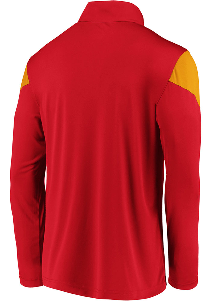 Kansas City Chiefs Mens Red Poly Interlock Long Sleeve 1/4 Zip Pullover - Image 2
