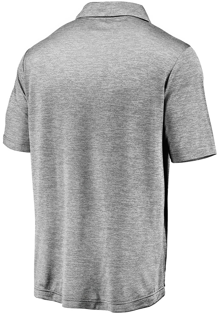 Kansas City Chiefs Mens Grey 2019 Conference Champions Third Down Short Sleeve Polo - Image 2