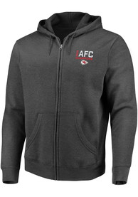 Kansas City Chiefs 2019 Conference Champions Minute Drill Full Zip Jacket - Charcoal