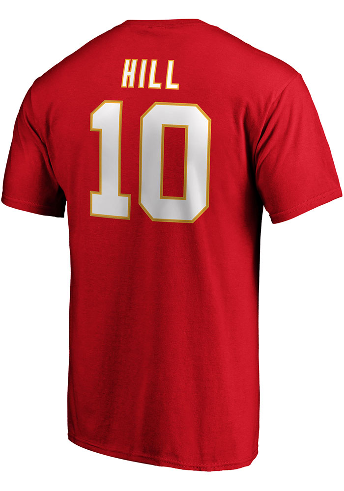 Tyreek Hill Kansas City Chiefs Red 2019 Super Bowl LIVParticipant Half Back Short Sleeve Player T Shirt - Image 1