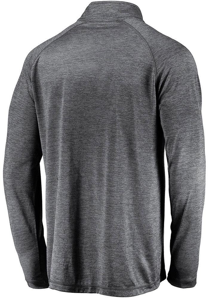 Kansas City Chiefs Mens Grey 2019 Super Bowl LIV Participant Hand Off Long Sleeve 1/4 Zip Pullover - Image 2