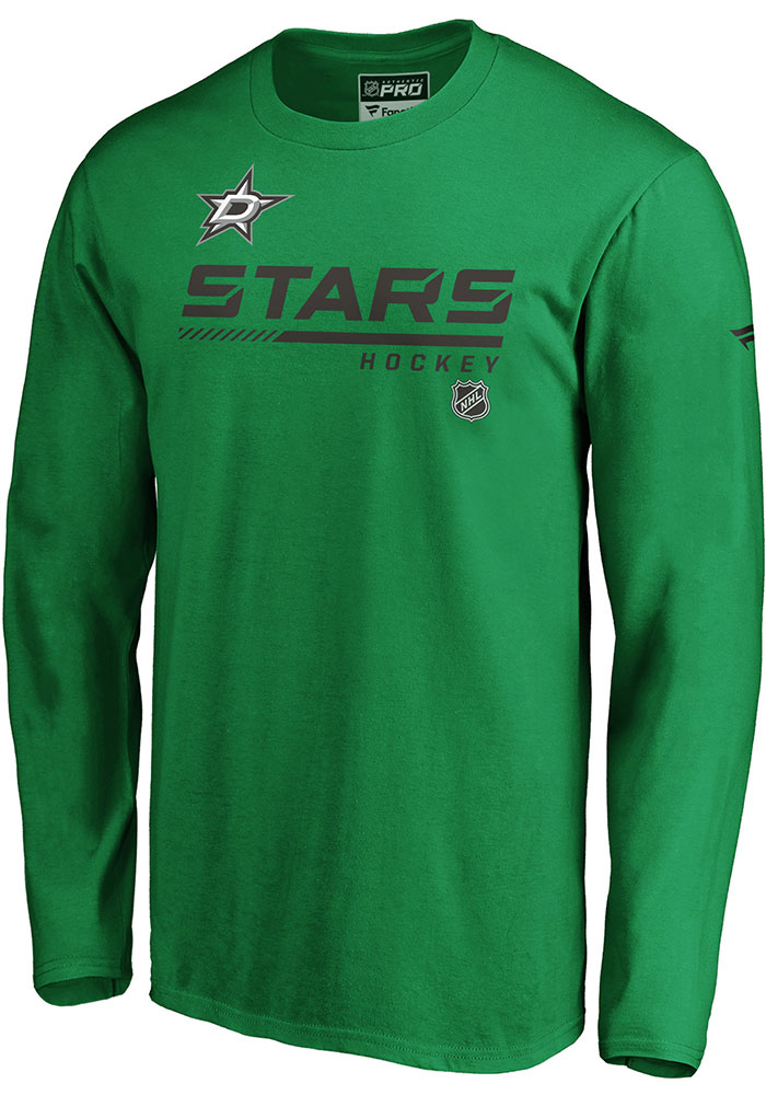 Dallas Stars Green Cotton Prime Long Sleeve T Shirt - Image 1