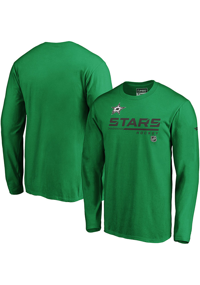 Dallas Stars Green Cotton Prime Long Sleeve T Shirt - Image 3