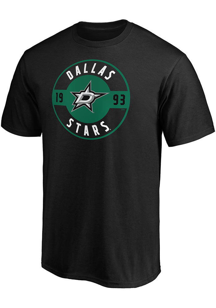 Dallas Stars Iconic Cotton Circle T Shirt - Black