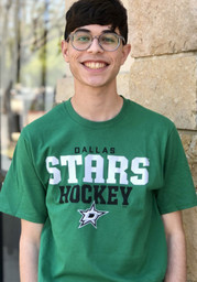 Dallas Stars Iconic Cotton Double Stack T Shirt - Green