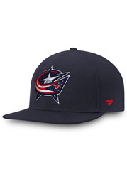Columbus Blue Jackets Mens Navy Blue Core Fitted Hat