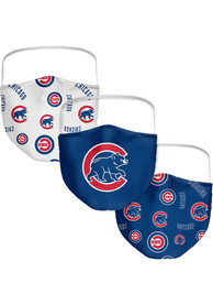 Chicago Cubs Sublimated 3pk Fan Mask - Blue