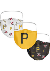 Pittsburgh Pirates Sublimated 3pk Fan Mask - Black