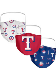 Texas Rangers Sublimated 3pk Fan Mask - Blue
