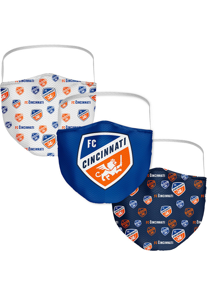 FC Cincinnati Sublimated 3pk Fan Mask - Blue