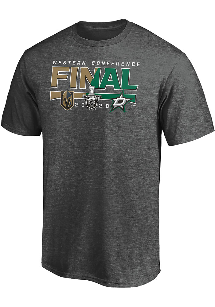 Dallas Stars Charcoal 2020 NHL Conference Final Participant Contender Short Sleeve T Shirt - Image 1