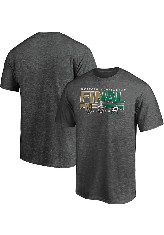 Dallas Stars Charcoal 2020 NHL Conference Final Participant Contender Short Sleeve T Shirt - Image 3