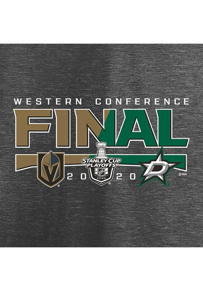 Dallas Stars Charcoal 2020 NHL Conference Final Participant Contender Short Sleeve T Shirt - Image 4